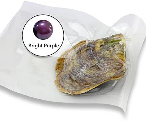 Bright Purple Akoya Round Cultured Pearl in Oyster Vacuum Package 6-7mm 30pcs