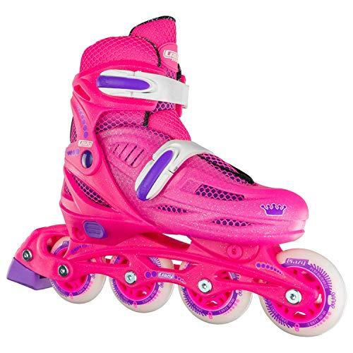 Crazy Skates Adjustable Inline Skates for Girls - Beginner Kids Rollerblades (Model 148)