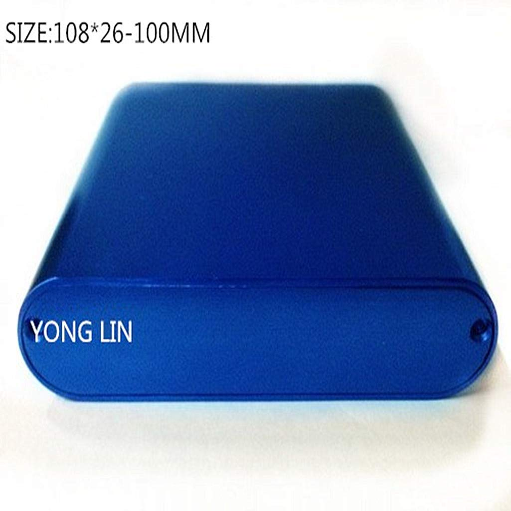 YONGLINLVDIANKEJI 2PCS Wireless WiFi Router Shell/DIY PCB Board Outlet Shell/Battery Pack Protective Shell/Aluminum Profile housing10826-100MM