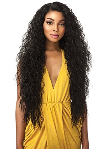 Sensationnel 100% Premium Fiber Synthetic Hair Empress Edge Curved Part Lace Front Wig - TUSCANY (Tuscany Natural)
