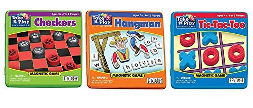 Patch – Play Anywhere Bundle – Checkers, Tic-Tac-Toe and Hangman