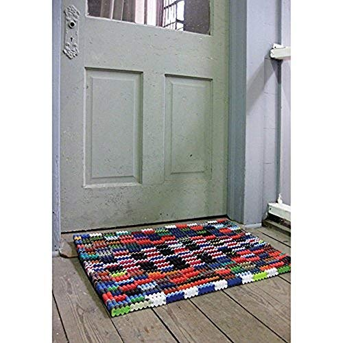 (Reclaimed Flip-Flop Door Mat Rectangle Welcome Mat - Easy Clean Durable Sturdy)