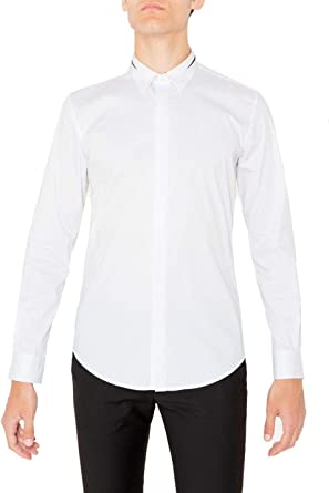 Antony Morato Luxury Fashion Hombre MMSL00413FA450001WHITE Blanco Camisa | Temporada Permanente: Amazon.es: Ropa y accesorios