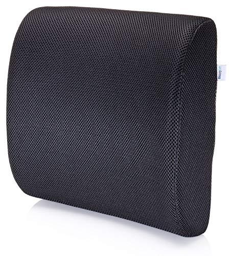 MemorySoft Premium Memory Foam Lumbar Support Pillow Ergonomic Back Cushion to Help Back Pain