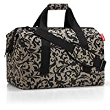 reisenthel Allrounder M Medium Weekender Bag, Versatile 6-Pocket Padded Duffel, Baroque Taupe