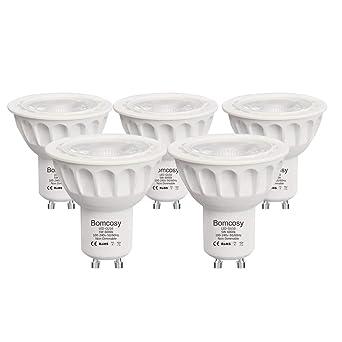 bomcosy GU10 5 W bombillas LED, 50 W bombillas halógenas de repuesto, 450 lúmenes