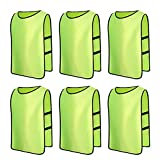 Senston High Quality Sports Pinnies 6 Scrimmage Training Vests (6 Color 3 Size)
