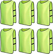 Senston Sports Pinnies 6/12 Pack Scrimmage Training Vests Jerseys Bibs Adult Youth for Football Basketball Vol