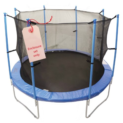 Upper-Bounce-8-Pole-Trampoline-Enclosure-Set-to-fit-13-FT-Trampoline-Frames-with-set-of-4-or-8-W-Shaped-Legs-Trampoline-Not-Included