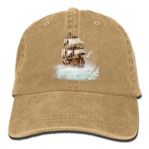Boat Ship Clip Art Classic Washed Cotton Baseball Cap Hip Hop Adjustable Cowboy Cap ()
