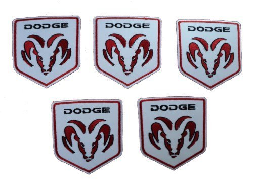 Dodge Rams Head Mopar Truck Embroidered Sew Iron on Patch 5pcs.