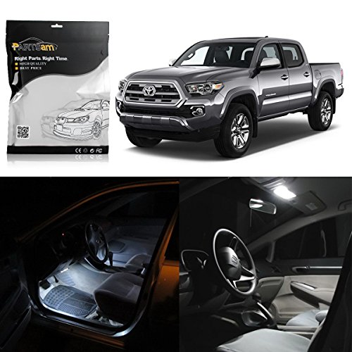 Partsam Toyota Tacoma White Interior LED Package Kit + License Plate Light