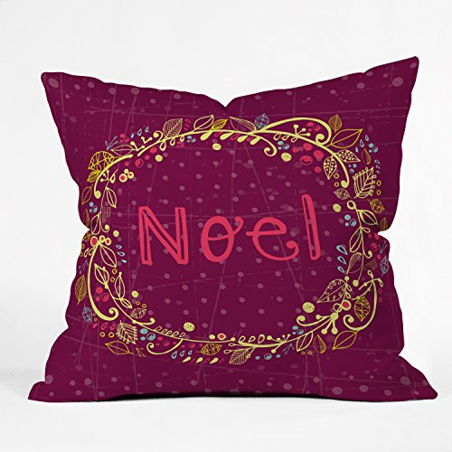 (Rachael Taylor Noel Wreath Purple Throw Pillow, 26