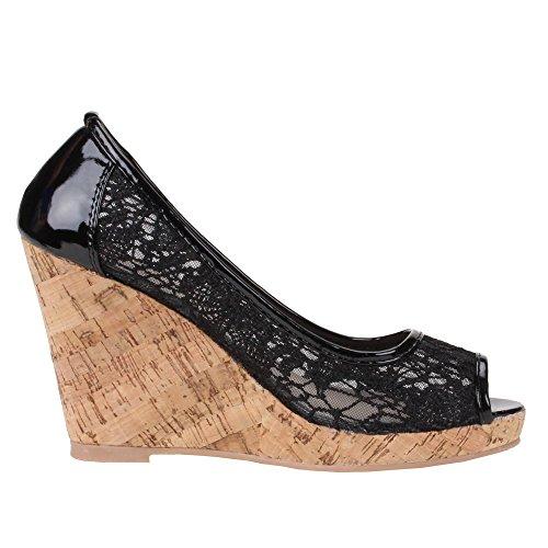 Ital-Design - Sandalias de vestir de Material Sintético para mujer Negro - negro