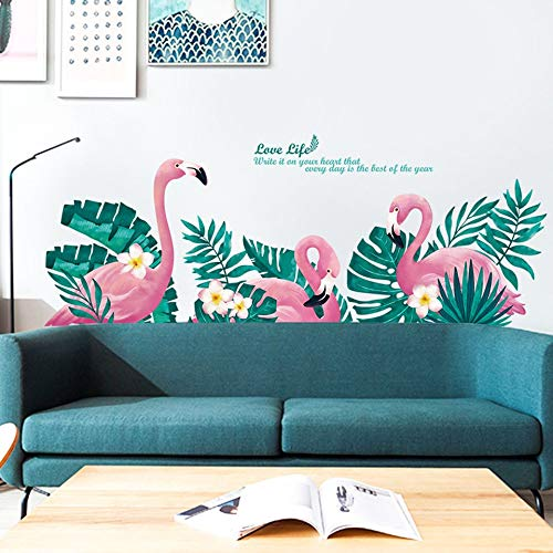 (Wall Stickers Cute Unicorn Flamingo Wall Stickers for Kids Rooms Girls Bedroom Decor DIY Poster Cartoon Animall Wallpaper Stickers on The Wall)