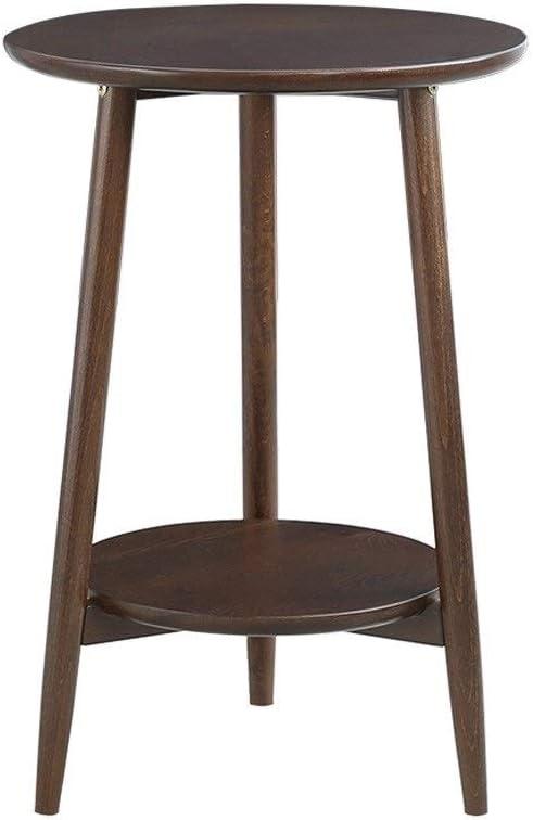 2020 Nieuwste Hedendaagse Coffee Table 2 Lagen Coffee Table Sofa Side Phone Stand Kleine Salontafel Stabiel Frame Van Massief Hout Ronde Koffie Tafels Living Room 4.11 (Color : Brown) Brown V1AHS1r