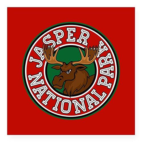 CafePress Jasper Moose Circle Square Sticker 3 X 3 Square Bumper Sticker Car Decal, 3