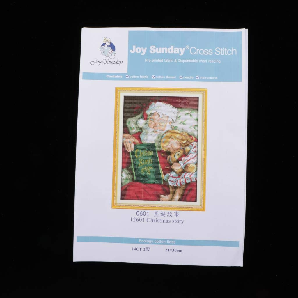 Santa Claus LoveinDIY DIY Stamped Cross Stitch Christmas Kits Thread Needlework Embroidery Printed Pattern 14CT Home Decoration