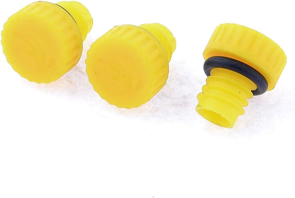 1,5/cm Jaune Filetage ext/érieur 3/bouchons d/'huile pour compresseur d/'air en plastique