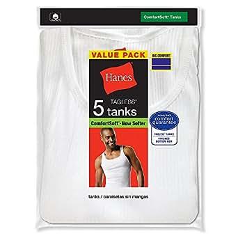 Hanes 372P5B White A-Shirt - White - 3XL