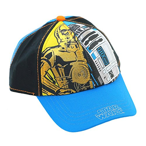 star-wars-classic-droids-r2-d2-c-3po-metallic-finish-youth-snapback-ball-cap