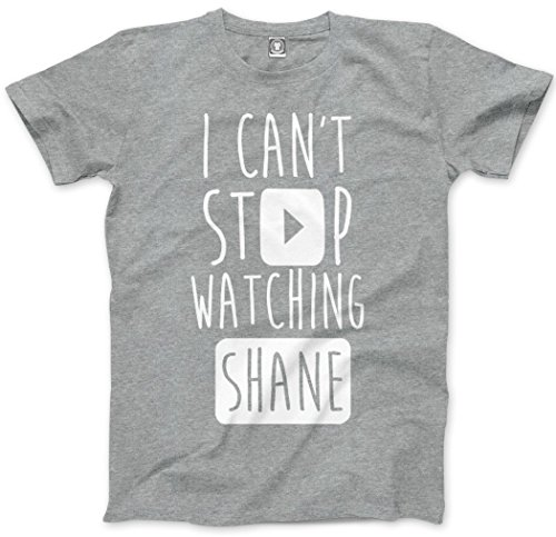 I Can't Stop Watching Shane - Vlogger Star Unisex T-Shirt - Various Colours and Sizes - shane dawson shane dawson it gets worse shane dawson merch shane dawson i hate myselfie shane dawson book - XL grey