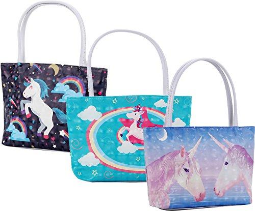 Print Women Handbag Tote Group Bag Waterproof Ababalaya for Zipper Girls Bag Shoulder Unicorn PU 2 gw0fxqtP