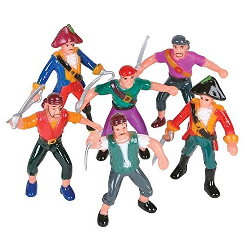 Rhode Island Novelty Plastic Pirate Action Figures | 1 Dozen | -