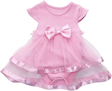 Baby Girls Infant Birthday Tutu Clothes Party Jumpsuit Princess Romper Dress AB