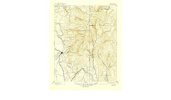 Amazon.com: YellowMaps Santa Fe NM topo map, 1:125000 scale, 30 X 30 Minute, Historical, 1894, updated 1948, 20.7 x 17 IN - Paper: Sports & Outdoors