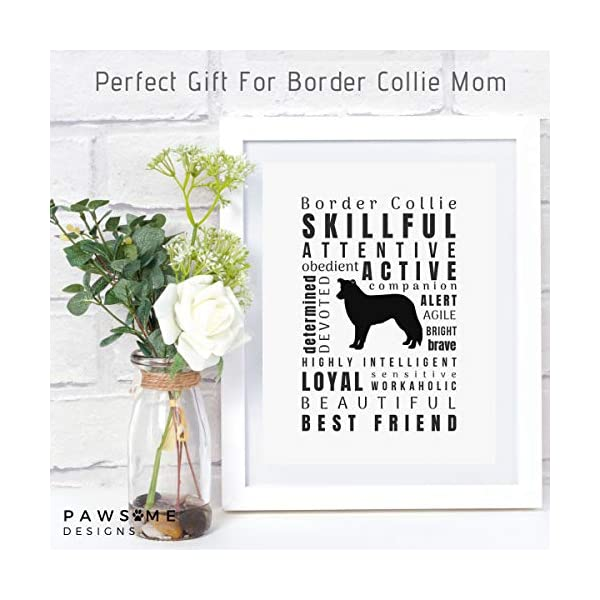 Dragonfly home & gift Dog Décor Border Collie Wall Art - Quote Print (8.5x11 Unframed) Pet Memorial Gifts | Dog Mom | New Puppy | Original Gifts for Dog Lovers 2