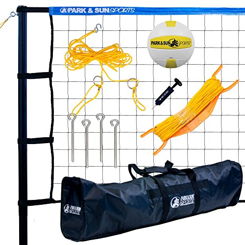 Park & Sun Sports Tournament 179: Portable Outdoor Volleyball Net System, Blue