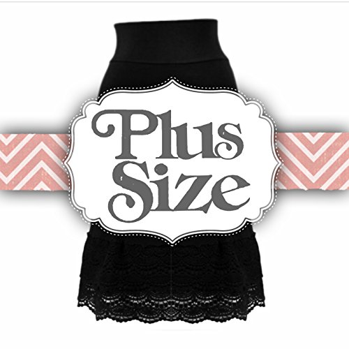 Peekaboo-Chic Snap Dragon Half Slip Skirt Extender (black, xxl)