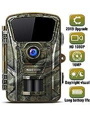 "SGODDE Wildkamera,16MP 1080P Full HD 5.0 Jagdkamera Infrarot-Nachtsicht bis zu 65 Fuß/20m,42 IR LEDs Bewegungsmelder 120 ° Weitwinkelobjektiv IP66 Wasserdicht 2.4"" LCD 0,7 Sekunden Auslösezeit (A)"