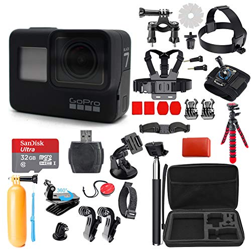 GoPro Hero 7 (Black) Action Camera + 38 Piece Accessory Kit by Deal Zone (Image #1)