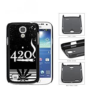 420 Weed Spray Painted Black and White Design Art Hard Snap on Cell Phone Case Mini Samsung Galaxy S4 I9500 by icecream design