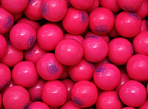 Pink 1928 Classic Dubble Bubble Gumballs 1 Pound Bulk ----With Mystery Stickers & Mystery Bouncy Ball