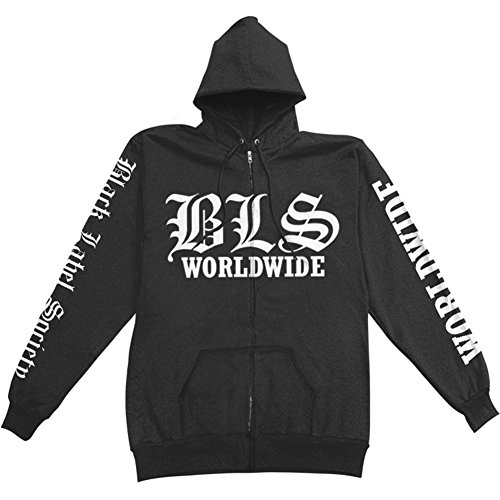 Black Label Society Men's Worldwide Zip Up Hoodie Sweater S