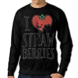 GsShan08 Heart Strawberries Fruit Mens Outerwear,Long Sleeve For Man