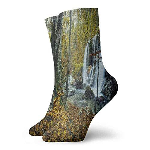- Men's Socks Happy Funny Waterfall,Cascade in Grand Canyon,socks men pack hanes