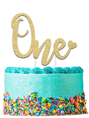 (1st Birthday Cake Topper Decoration ONE - 6.25
