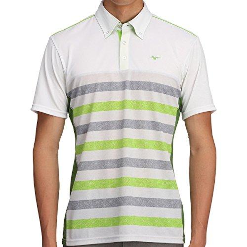 [ミズノ] メンズ ゴルフ MG 半袖シャツ ソーラーカット ボディーマッピング セーフティーイエロー 52MA700531