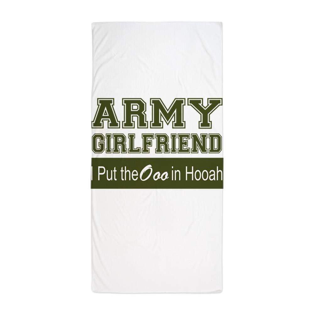 Army Girlfriend Ooo In Hooah_Green - Large Beach Towel, Soft ...