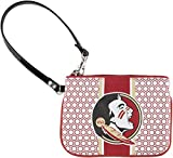 Florida State University Patterned Hexagon Canvas Wristlet
