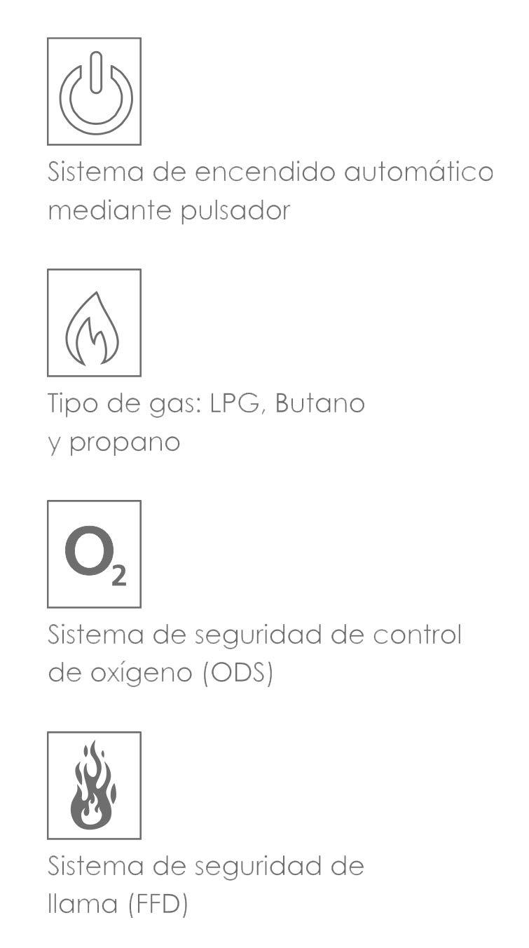 Bastilipo Eglpc-4200 Estufa de Gas Plegable 4200 W, 0 Decibeles, Plástico, 3 Velocidades, Negro: Amazon.es: Hogar