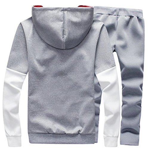 DigerLa Men's Fashion Printed Hoodie Jacket and Pants Tracksuit Set