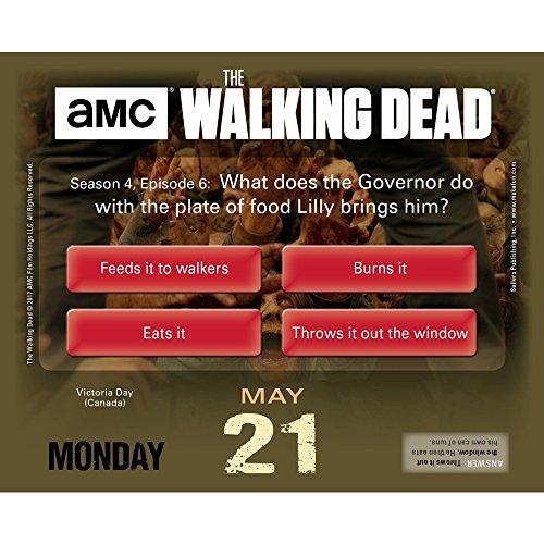 The Walking Dead Trivia Challenge 2018 Daily Desk Boxed Calendar Photo #2