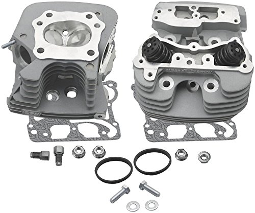S&S Super Stock Cylinder Head Kit with 89CC Chamber Volume for Harley Davidson 2006-13 Big Twin engines - Silver -
