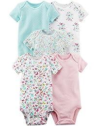 De Carter bebé Niñas 5 Pack Tank Bodysuits (bebé) – varios colores