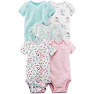 Carter's Baby Girls' 5 Pack Tank Bodysuits (Baby) - Assorted